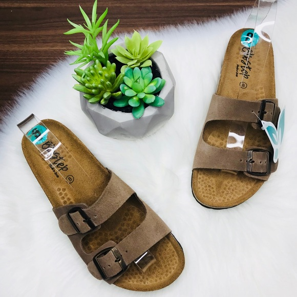 Biostep Shoes Suede Double Strap Sandals Poshmark